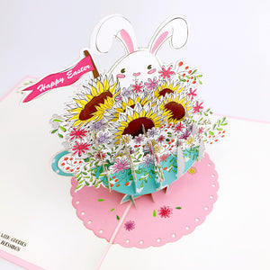 Liif teacup bunny 3d pop up easter card