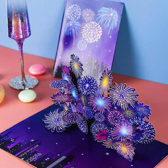 liif lovepop firework pop up card 3D greeting holiday new year congratulations NYC July 4th Romantic