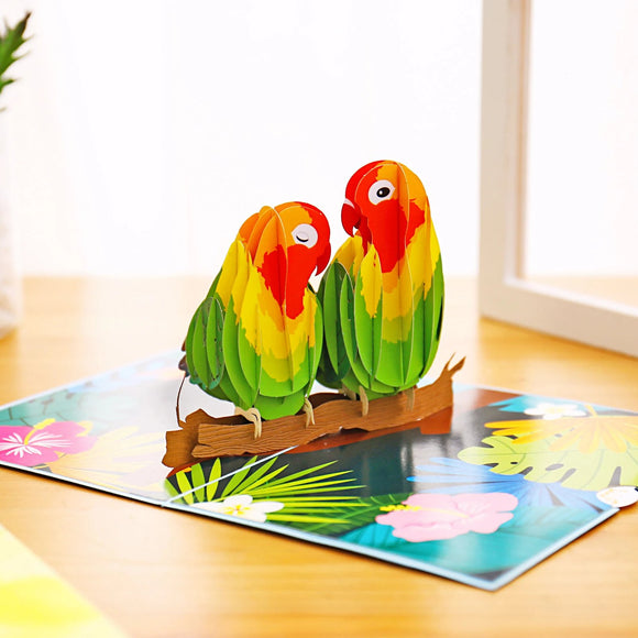 Liif Lovebirds Pop Up Card