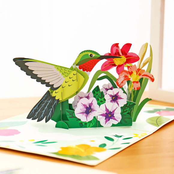 Hummingbird Inspiration Pop Up Card