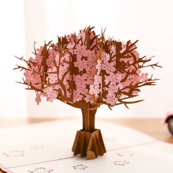 Pink Cherry Blossom Pop Up Card