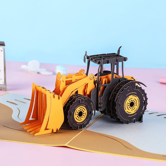 Liif Bulldozer Pop Up Card