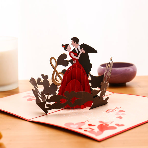 Liif Dancing Couple Pop Up Card