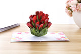 Red Tulip Pop Up Card