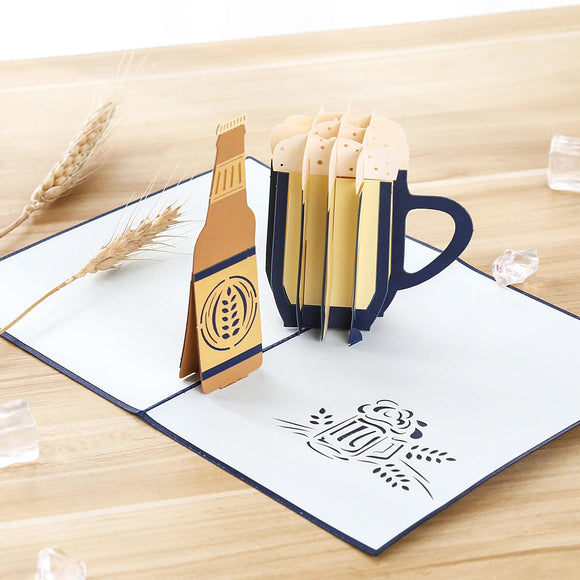 Beer Cheer Pop Up Card