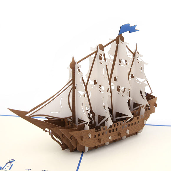 Set Sail Pop Up Card