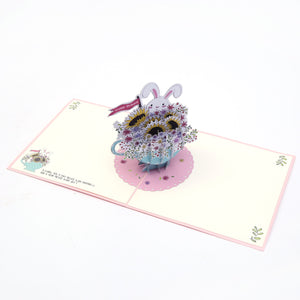 Teacup Bunny Pop Up Card