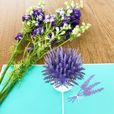Lavender Blooms 3D Pop Up Card