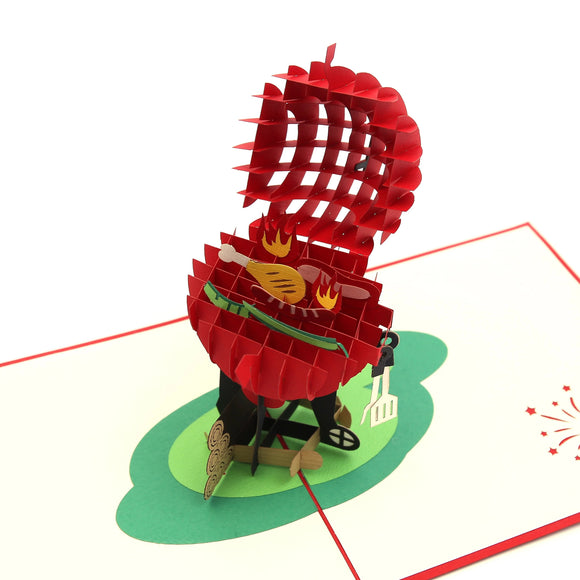 BBQ Steak and Grill 3D Pop Up Card
