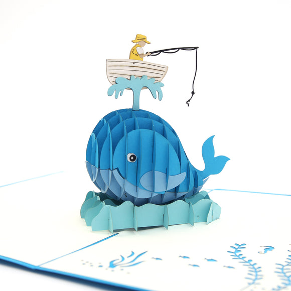Fisherman Blue Pop Up Card