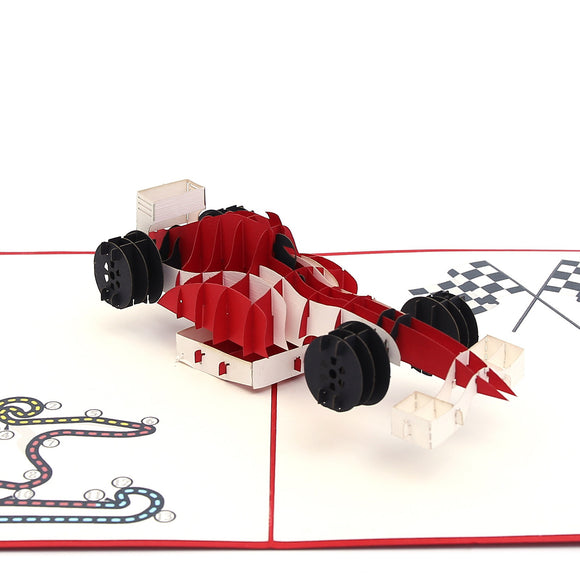 F1 Racing Pop Up Card