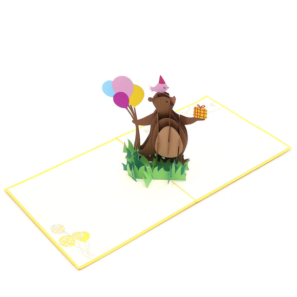 Party Bear Pop Up Card