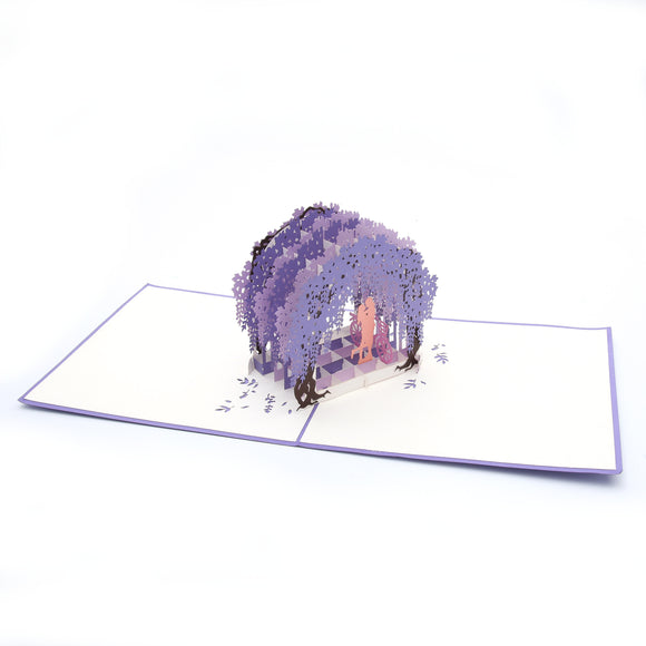 Wisteria Arch Pop Up Card