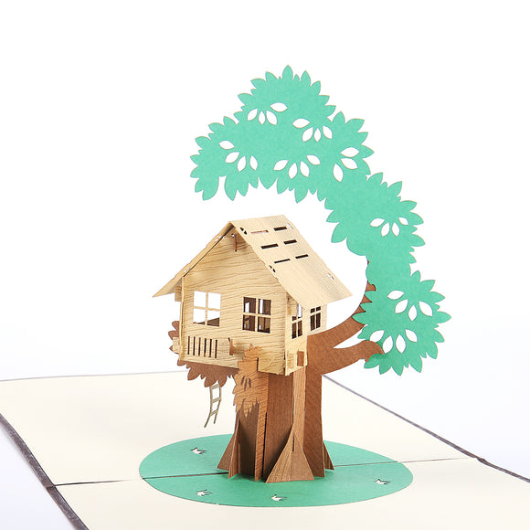 Tiny Tree House 3D Pop-up Card