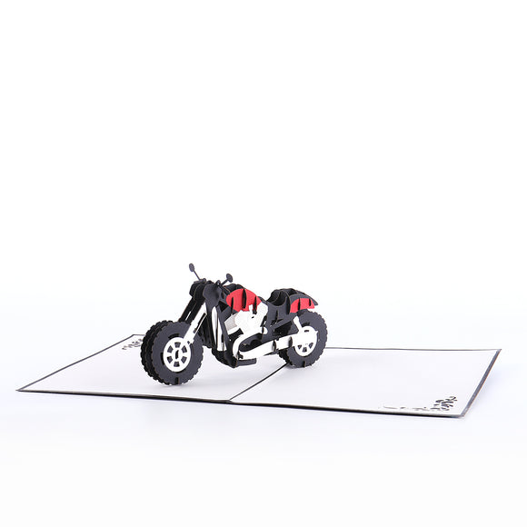 3D motocycle pop up card