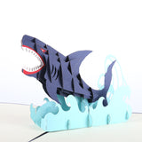Jumping Shark Pop-up Card