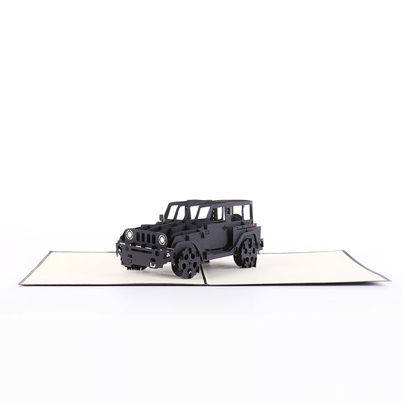 Trendy Jeep Pop-up card