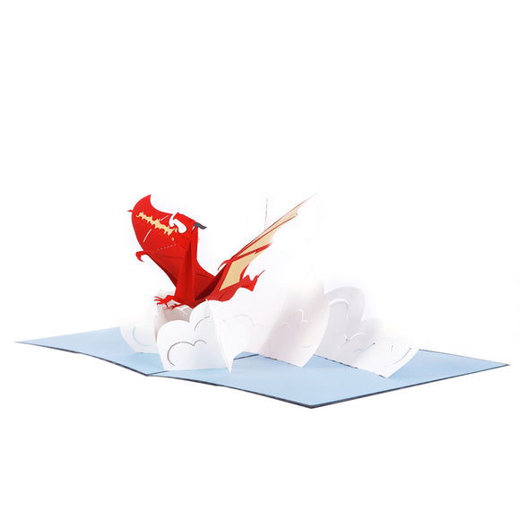 Fiery Dragon 3D pop-up card