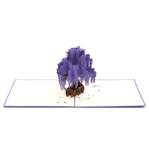 Wisteria Purple Pop Up Card