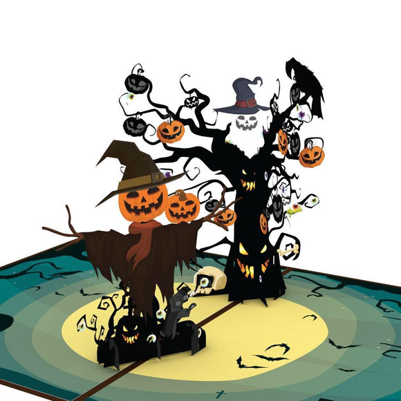 liif halloween pop up card kids pumpkin trick or treat tree funny boy girl son daughter child