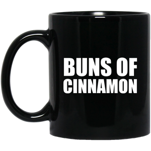 11 Oz. Black Ceramic Mug - Buns of Cinnamon