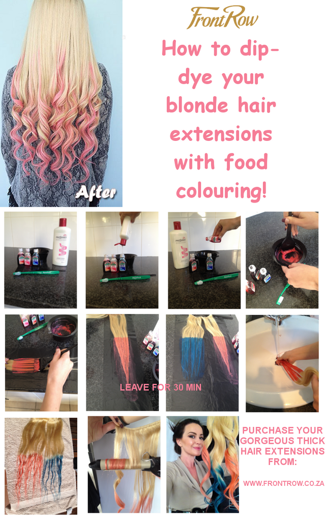 How To Dip Dye Blonde Hair Extensions With Food Colouring Frontrow