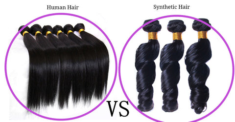 human hair vs synthetic hair