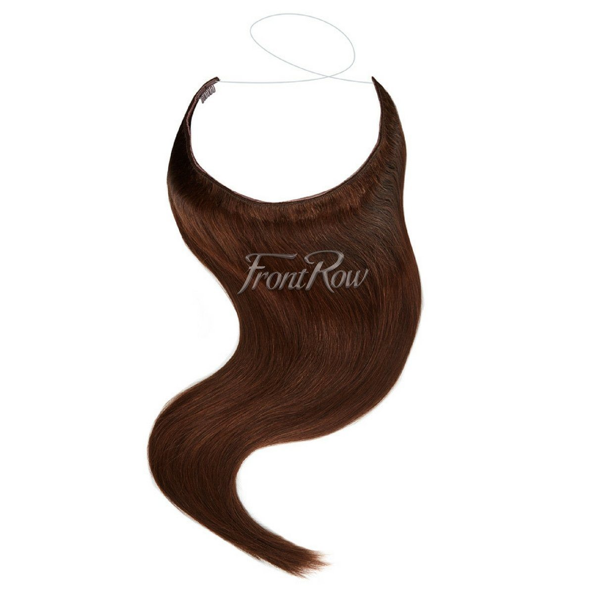 Halo hair extensions in south africa frontrow frontrowza 18inch dark brown halo hair extensions baditri Image collections