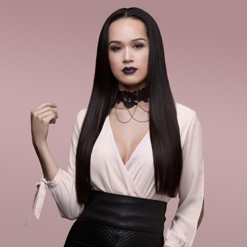 Clip-in extensions collection model image