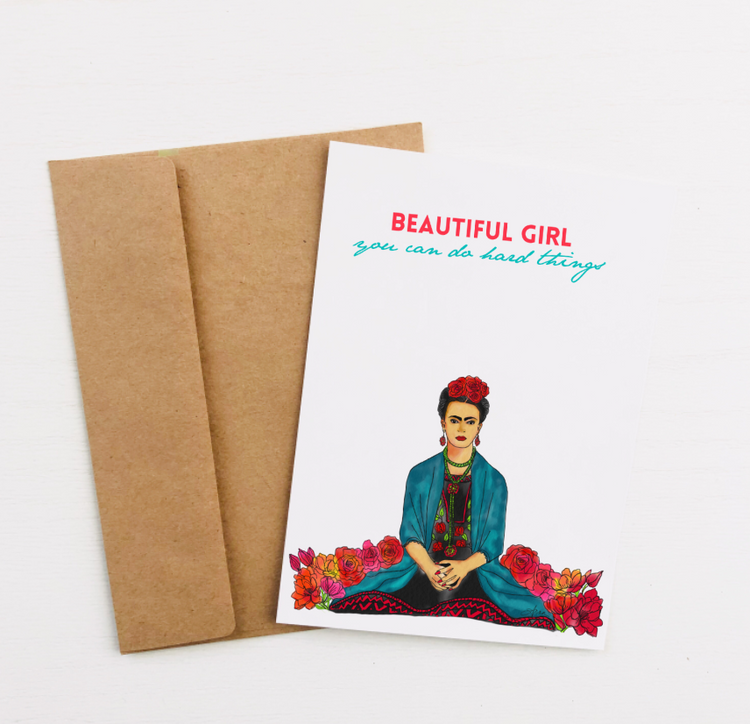 """Beautiful Girl"" Greeting Card"