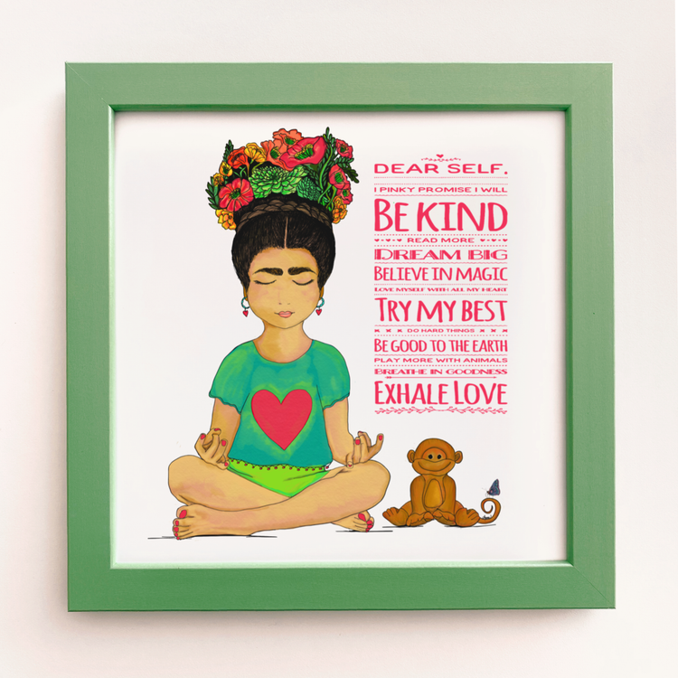 """Be Kind"" Framed Art Print"
