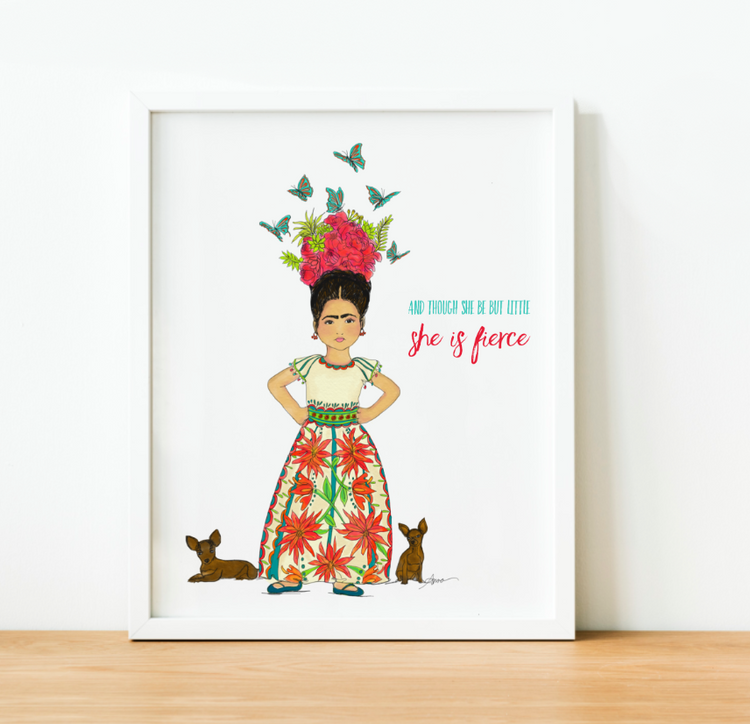 """She is Fierce"" Art Print"