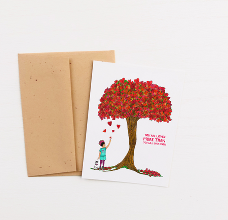 """You Are Loved"" Greeting Card"