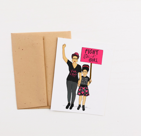 """Fight Like A Girl"" Greeting Card"