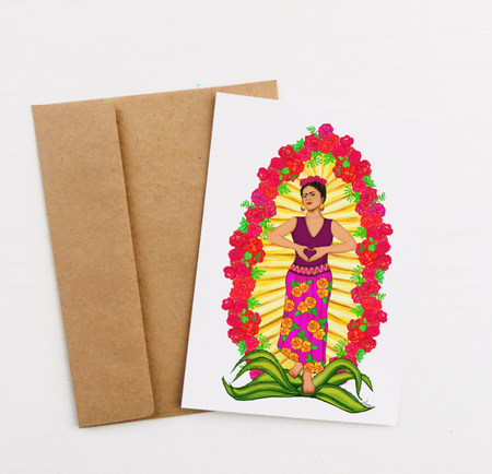 """Viva la Frida"" Greeting Card"