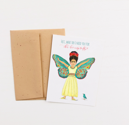 """Wings To Fly"" Greeting Card"