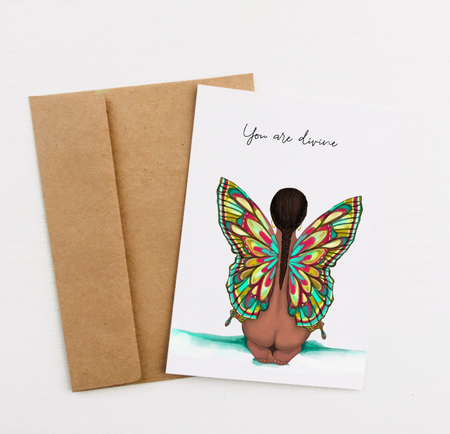 """You are Divine"" Greeting Card"
