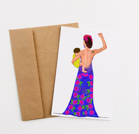 """Viva la Mama"" Greeting Card"
