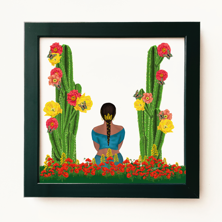 """Beautiful Intentions"" Framed Art Print"
