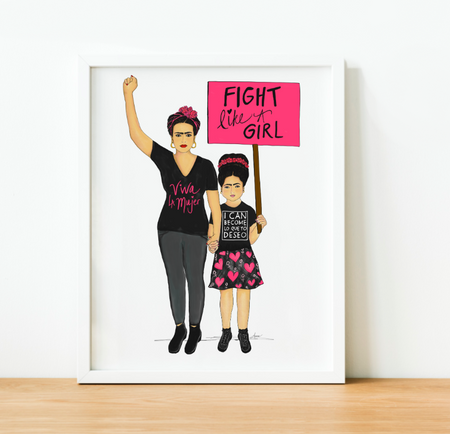 """Fight Like A Girl"" Art Print"
