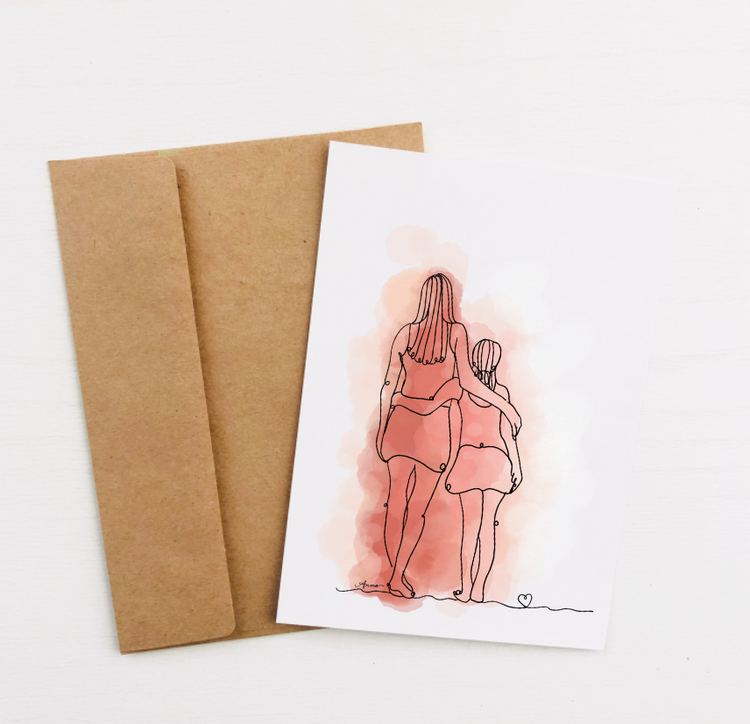 """Us"" Greeting Card"