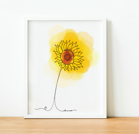 """Sunflower"" Art Print"