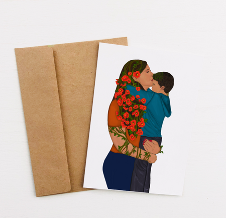 """Forever My Little Boy"" Greeting Card"