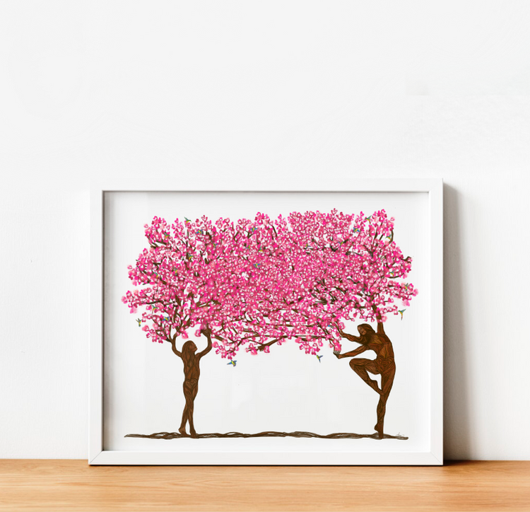 """Rooted in Strength and Beauty"" Family Art Print 