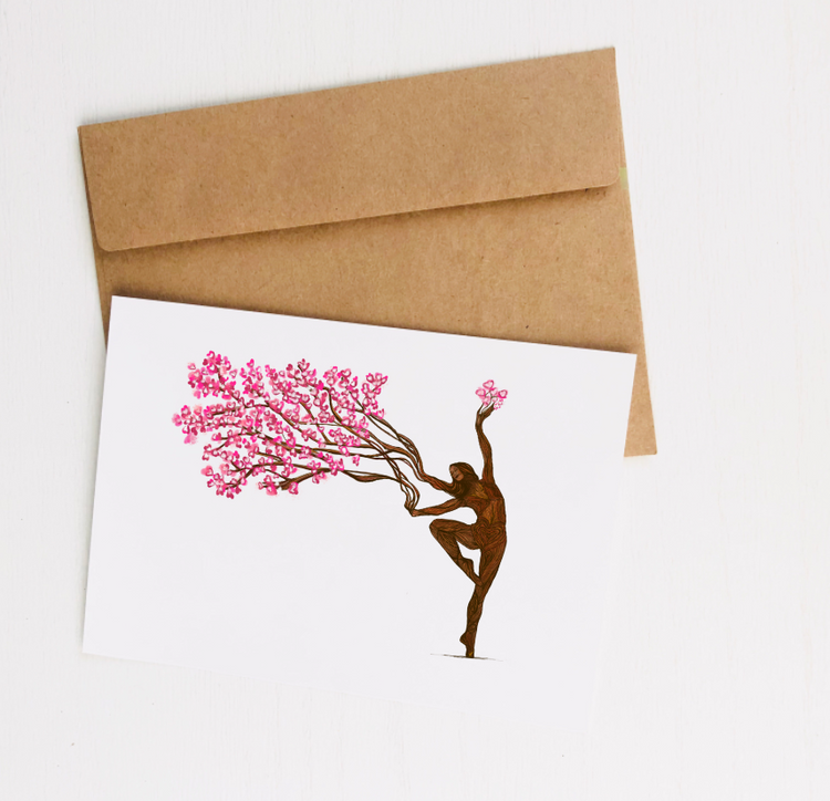 """Rooted in Strength"" Greeting Card"