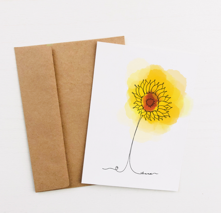 """Sunflower"" Greeting Card"