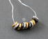 Sterling Silver & Yellow Gold Free Form Disc Beads, 10 pcs (SS/1006/5 x1.3)
