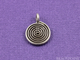 Thai Hill Tribe Flat Coiled Spiral Swirl Charm, (8110-TH) - Beadspoint