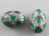 Pave Diamond & Emerald Nugget Style Bead, (DBD-267)