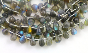 Labradorite Faceted Tear Drops ,(LAB18x9TR) - Beadspoint